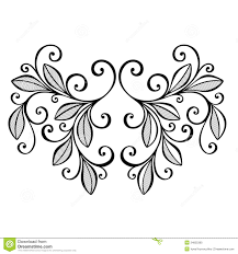 decorative leaf with ornament stock photo image 34825360