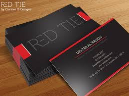 red tie free business card template psd by cursive q designs