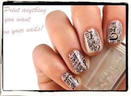 print anything you want on your nails tutorial nailderella