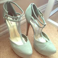 Light Blue High Heels 38 Off Justfab Shoes Light Blue High Heels From Kendoll U0027s