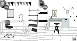 bureau noir et blanc challenge déco bureau enfant noir et blanc pas ennuyeux ni trop