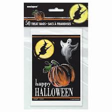 10 halloween skeleton hand cello trick or treat bags for sweets