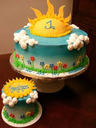 you are my sunshine birthday cake would say happy 1st birthday