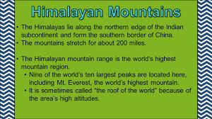 Himalayan Mts Map Label The Following Countries On The Political Map Of Asia China