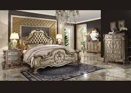 acme dresden gold king bedroom set diy furniture pinterest