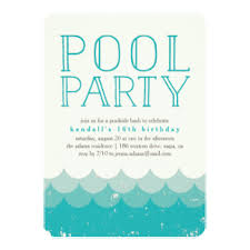 Invations Wave Pool Party Invitations U0026 Announcements Zazzle