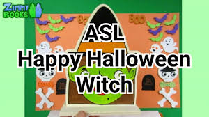 happy halloween asl witch wood painting youtube