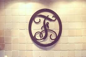 initial home decor monogram wall decor monogram wreath metal by wall and initial home