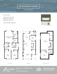 Single Family Floor Plans River U0027s Edge Single Family Homes Diverse Properties