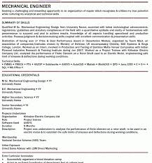 Resume For Mechanical Fresher Download Licensed Mechanical Engineer Sample Resume