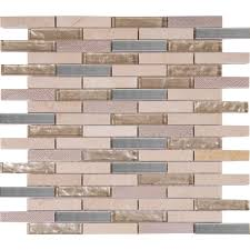 Home Depot Stone Tile Backsplash by Ms International Vienna Blend 12 In X 12 In X 8 Mm Glass Metal