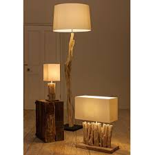 home decor floor lamps furniture decorative driftwood floor lamp with cream head for