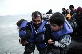 an afghan hounded by his past boat people from syria and afghanistan set up migrant camp in kos