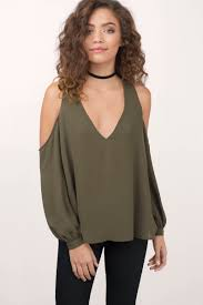 cold shoulder tops trendy olive shirt cold shoulder shirt olive shirt 24 tobi us