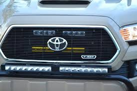 tacoma grill light bar 2016 tacoma behind the grille hidden led light mount tacoma world