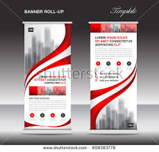 layout banner design roll up banner template with buildings download free vector art