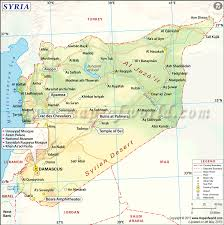 Map Showing Equator Syria Latitude And Longitude Map
