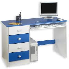 bureau enfant en pin bureau enfant malte 4 tiroirs lasuré blanc bleu achat vente
