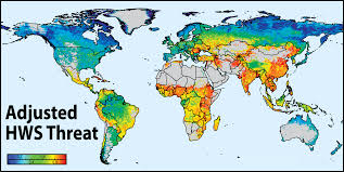 World Map To Scale by Global Threats To Human Water Security And River Biodiversity