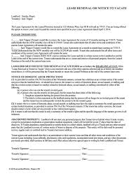 wisconsin lease renewal or notice to vacate ez landlord forms