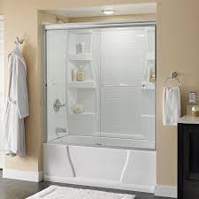 bathroom terrific alcove bathtub with glass doors 41 framed