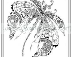 colouring pdf download tree dragonfly henna zen