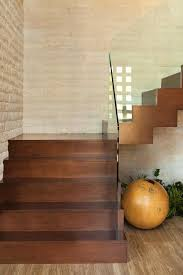Stone Banister Awesome Glass Banister Staircase Contemporary With Neutral Colors