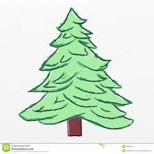 drawn christmas trees christmas lights decoration