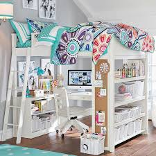 white girls loft beds with desk u2014 room decors and design