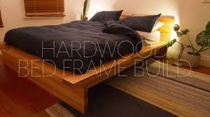 Diy Bed Frames Diy Hardwood Bed Frame Build