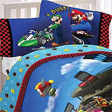 Mario Bros Bed Set Mario Brothers Comforter Sheet Set 5