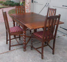 Vintage Oak Dining Chairs Oak Brown Antique Dining Sets 1900 1950 Ebay