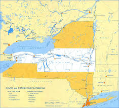 location canap erie canal maps