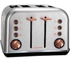Brushed Stainless Steel Kettle And Toaster Set Buy Morphy Richards Accents 102105 4 Slice Toaster Brushed