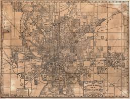 Back Road Maps Bicycle And Driving Map Of Indianapolis 1899 Back Home Again In