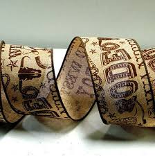 western ribbon 2 5 inchwired burlap cowboy ribbon rodeo ribbon western ribbon