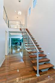 Handrails Brisbane Timber Staircase Using Sydney Blue Gum Timber With Glass