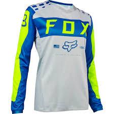 kawasaki motocross jersey fox 2017 180 grey blue womens gear set at mxstore