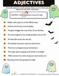 halloween adjectives grammar the adjective and vocabulary