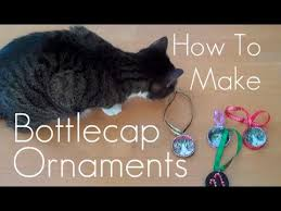 how to make bottle cap tree ornaments