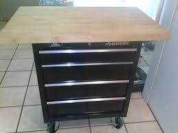 diy kitchen island cutting board on toolbox good idea from the