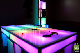 ping pong table rental near me led ping pong table event rental
