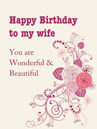 wife birthday cards birthday cards for wife print free at blue