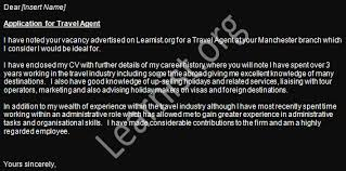travel agent job application cover letter examples learnist org