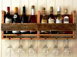 bar glass rack modern rustic solid wood glass holder wine rack