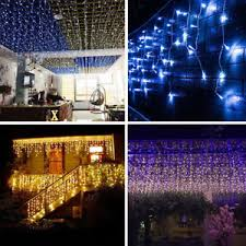 5 10 15 20 25m icicle lights tree curtain light
