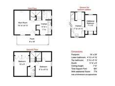 Tiny Home Layouts 16x24 House Plans Google Search Small House Plans Pinterest