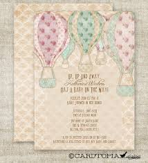air balloon baby shower invitations custom diy printable