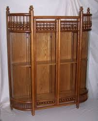 Oak Wall Mounted Display Cabinet Hanging Curio Display Cabinet Foter
