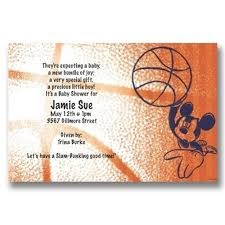 basketball baby shower disney mickey basketball baby shower invitations baby cachet